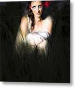 Angel Sitting In The Darkness Metal Print
