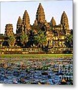 Angkor Wat At Sunset - Cambodia Metal Print