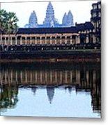 Angkor Wat Reflection Metal Print