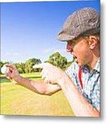 Angry Golf Metal Print