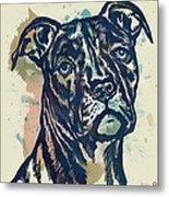 Animal Pop Art Etching Poster - Dog - 4 Metal Print