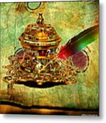 Antique Inkwell Metal Print