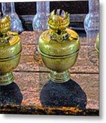 Antique Kerosene Lamps Metal Print