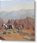 Apache Braves In The Valley Of Fire Metal Print