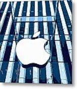 Apple In The Big Apple Metal Print