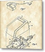 Apple Mouse Patent 1984 - Vintage Metal Print