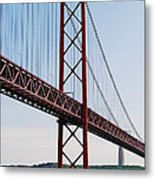 April Bridge In Lisbon Metal Print