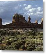 Arches National Park Sunrise Rock Formations  Metal Print