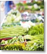 Asian Market Vegetable Metal Print by Tuimages