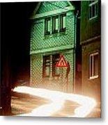 At Night In Thuringia Village Germay Metal Print