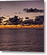At Sea Sunset Metal Print