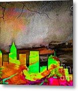 Atlanta Skyline Watercolor Metal Print