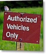 Authorized Vehicles Only Metal Print