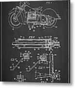 Automatic Motorcycle Stand Retractor Patent Drawing From 1940 Metal Print by Aged Pixel