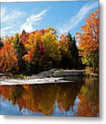 Autumn At The Lock And Dam Metal Print