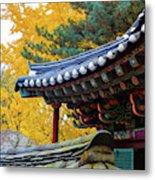 Autumn Color At Namsangol Folk Village Metal Print