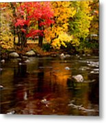 Autumn Colors Reflected Metal Print