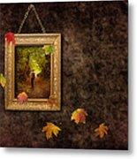 Autumn Frame Metal Print