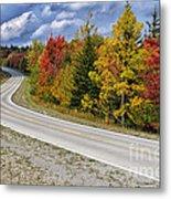 Autumn Highland Scenic Highway Metal Print