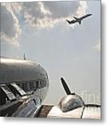 Aviation Past And Present  Metal Print