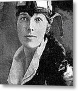 Aviator Amelia Earhardt No Date-2010 Metal Print