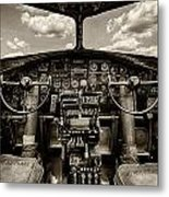 Cockpit Of A B-17 Metal Print
