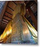 Back View Of Reclining Buddha Metal Print