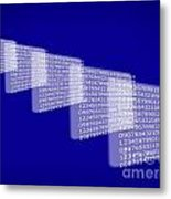 Background Numbers Metal Print