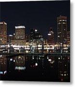Baltimore Skyline At Night Metal Print