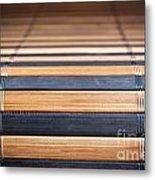 Bamboo Mat Texture Metal Print