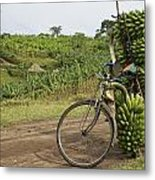 Banana Bike Metal Print