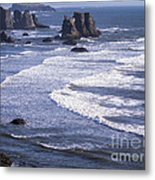 Bandon Beach Seastacks 4 Metal Print