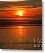 Bandon Beach Sunset Metal Print