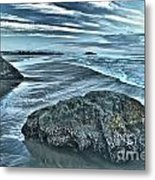 Bandon Beach Swirls Metal Print