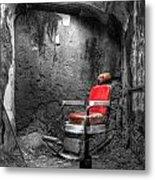 Barber Chair Metal Print