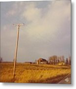Barn And Landscape Metal Print