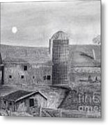 Barn And Silo Metal Print