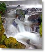 Base Of The Falls Metal Print by Marty Koch