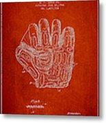 Baseball Glove Patent Drawing From 1924 Metal Print