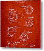 Baseball Training Device Patent Drawing From 1963 Metal Print