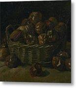 Basket Of Apples Metal Print
