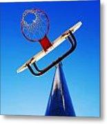 Basketball Hoop Metal Print by Lane Erickson