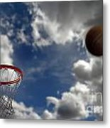 Basketball  Metal Print by Lane Erickson