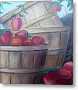 Baskets Of Apples Metal Print by Glenda Barrett