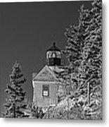 Bass Harbor Lighthouse Mount Desert Island Maine Metal Print