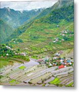 Batad Village And Unesco World Heritage Metal Print