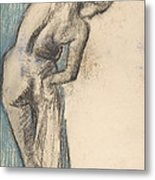 Bather Drying Herself Metal Print