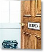 Bathroom Door Metal Print by Tom Gowanlock