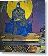 Batman On The Roof Top Metal Print
