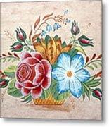 Bavarian Floral  Metal Print by Brenda Ruark